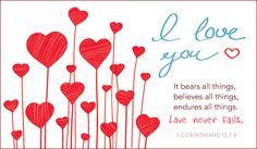 Free Love Never Fails eCard - eMail Free Personalized Love Cards Cards Online