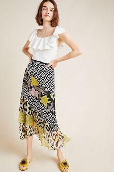 Diane von Furstenberg Darcie Silk Midi Skirt | Anthropologie