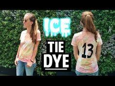 ICE TIE DYE TSHIRTS #Summer #DIY #IceTieDye #Fashion