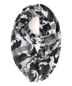 Look at this RQ Gray Camo Infinity Scarf on #zulily today!