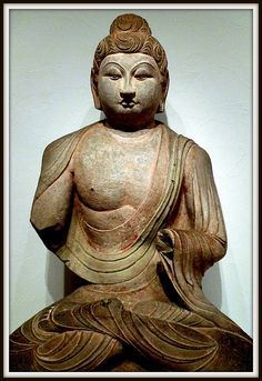 Seated Buddha (probably Sakyamuni), early 8th century Sculpture Chinese, 8th century Tang dynasty, 618-907