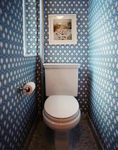 hexagon wallpaper, in a guest toilet. 37 Inspirational Ideas To Design A Guest Toilet Hexagon Wallpaper, Geometric Wallpaper, Bold Wallpaper, Wallpaper Ideas, Graphic Wallpaper, Unusual Wallpaper, Amazing Wallpaper, Wallpaper Patterns, Modern Wallpaper