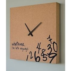 I can do a very cool version of this. Of course, Im always on time, but still. Ha! -----  I may be addicted to pinterest as I feel compelled to keep pinning these great finds. *********** IF YOU LIKE THIS PIN, PLEASE RE-PIN IT TO ONE OF YOUR BOARDS AND SHARE THE LOVE! ************
