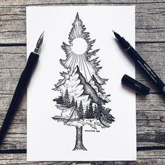 Except with birdseye as the mountain ❤ tattoo ideas idei tatuaje, t Sketch Tattoo Design, Sketch Design, Tattoo Sketches, Drawing Sketches, Art Drawings, Tattoo Designs, Pencil Drawings, Drawing Ideas, Tattoo Illustrations