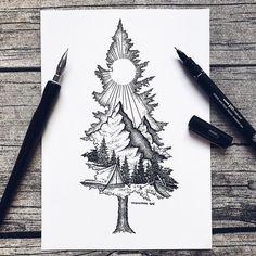 Except with birdseye as the mountain ❤ tattoo ideas idei tatuaje, t