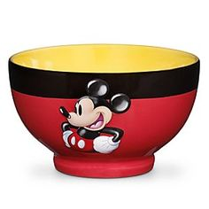 Disney Best of Mickey Mouse Bowl | Disney StoreBest of Mickey Mouse Bowl - Mickey adds an extra dimension to meal times with this Best of Mickey Mouse Bowl. Inspired by his famous shorts, this bowl features a 3-D Mickey design that will make it a stand-out in your kitchen.