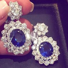 @civetta_rossa. Baharainjewellerycentre Exquisitely diamond and sapphire earrings by @Maria Gaspari