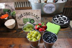 vintage tractor boys birthday party- food idea