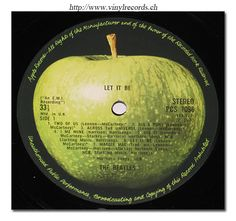 Let It Be Album Cover | Close-up of Record Label Photo Beatles Let It Be Vinyl Record Store ...