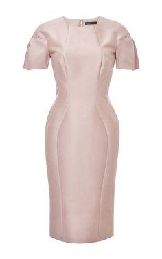 Cotton and Silk-Faille Dress by Zac Posen Now Available on Moda Operandi