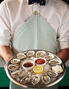 Clark's - Oysters; Tastes vary depending on waters they come from. Favorites are Maine & Mass oysters. Steamboat and Rhode Island oysters a bit bitter. Love this place. Dining atmosphere gives off an East Coast feel and is reminiscent of the seafood dives I frequented minutes from the beach.