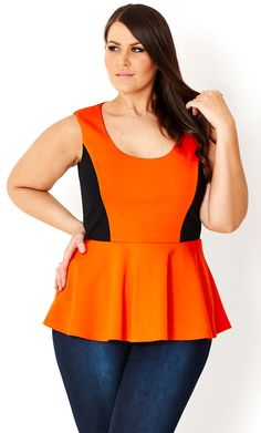 1f7f768e1c3 CITY CHIC - SPLICED PEPLUM TOP - Women s plus size fashion Peplum Shirts