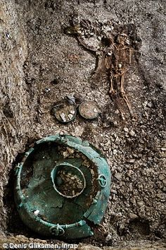 The remains of an ancient Celtic prince or princess found still wearing a solid gold torque and lavish bracelets in a grave filled with riches has left archaeologists baffled. The 2,500 year old royal grave, which is thought to date to the fifth century BC, was discovered in Lavau, near Troyes, is thought to have belonged to a member of a Celtic royal family.