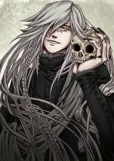 Black Butler ~~ The Undertaker who has an uncanny resemblance to Soul Eater's Stein.