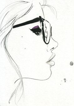 That Nerdy Girl, #illustration by Jessica Durrant #geek #nerd