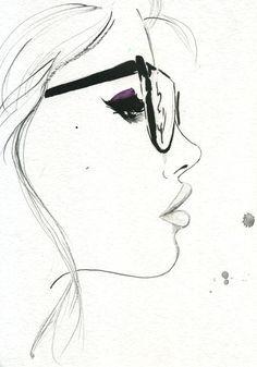 That Nerdy Girl, #illustration by Jessica Durrant #geek #nerd