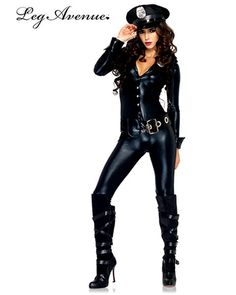Sexy Women's Officer Payne Police Costume | Cheap Police/Firefighter Halloween Costume for Sexy