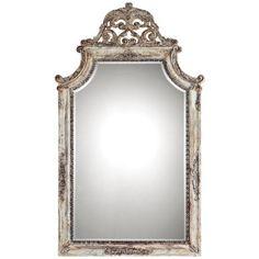 "Uttermost Portici 53"" H Antiqued Ivory Wall or Floor Mirror - #U6273 | LampsPlus.com"