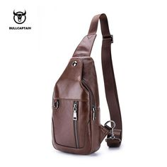 f0afc2988456 BULLCAPTAIN 2018 Small Brand casual messenger bags MEN Shoulder BAGS  Fashion GENUINE Leather MALE Crossbody Bag