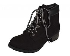 Lustacious Women's Round Toe Lace Up Rubber Threaded Sole Block Heel Ankle Boots with Side Cushioning, black faux suede, 6.5 M Soda http://www.amazon.com/dp/B016FQ9SKK/ref=cm_sw_r_pi_dp_uADgwb0H4VZYZ