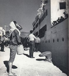 Mary Blakstad, Port of Ibiza, welcoming the Barcelona Boat (taken in 1962 by Dutch photographer Cas Oorthuys