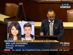 "Gutierrez: ""Pick Out The Immigrant"" Speech on Arizona Law w/ Justin Bieber + Selena Gomez"