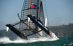 America's Cup: Catamarans capsize during racing in strong winds off Plymouth - Telegraph