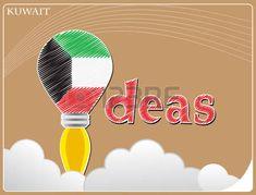 Idea concepto de la bandera de Kuwait, Clipart, Asia, Ideas, Home Decor, Flags, Concept, Illustrations, Decoration Home, Room Decor