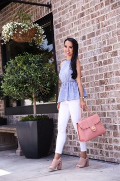 Annie Mai Thai of Stylish Petite shares some adorable Summer finds that won't break the bank. A bow pleated skirt that she styles three different ways and a flattering chambray peplum top that will get you through the next few months. Fashion Outfits, Womens Fashion, Fashion Tips, Fashion Design, Fashion Trends, Fashion Boots, Style Fashion, Leopard Fashion, Fashion Sandals