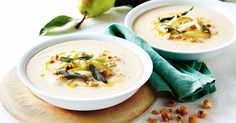 Take advantage of seasonal produce and make this creamy cauliflower, pear and blue cheese soup.