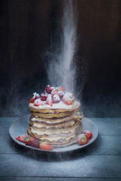 Ontbijttip! Frambozenpannenkoekjes, uit het boek Food talk van Kim Feenstra en Bénine Bijleveld.