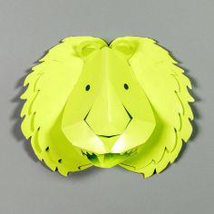 Décor mural, Stickers 3D Lion Anis / design by Emma Roux #StudioEmmaRoux
