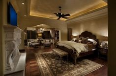 traditional bedroom by R.J. Gurley Custom Homes - lighting in tray ceiling
