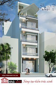 Ngôi nhà phố với thiết kế 1 mặt tiền, công trình mang hình thức kiến trúc hiện đại với cách sắp xếp hình khối đơn giản, khúc triết toát lên vẻ đẹp điển hình và rất có cá tính của thể loại kiến trúc hiện đại.