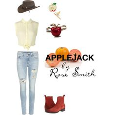 """""""Applejack Outfit, My Little Pony Inspired"""" by roses-s on Polyvore"""