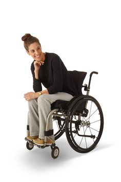 ad3469f0 Women's French Fleece Track Pants in Grey - Stylish adaptive clothing for  women. Wheelchairs,