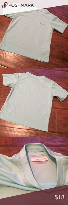 Columbia Omniwick Shirt Baby blue Columbia Omniwick shirt for Boys size 4. Excellent used condition. Wicks sweat & keeps your lil one cool. Great for everyday & fishing with Dad. **Also have one black listed. Columbia Shirts & Tops