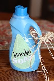 DIY liquid laundry soap! All natural ingredients and WAY less expensive than in the store! sarahahaaa