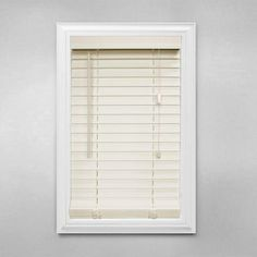 Home Decorators Collection White 2 In. Faux Wood Blind   50 In. W X 48 In.  L (Actual Size 49.5 In. W X 48 In. L ) | Living Room | Pinterest | Faux  Wood ...