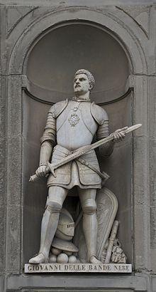 Giovanni dalle Bande Nere de Medici. He was a militair He was the son of Giovanni de Medici and Catherina Sforza. Giovanni married with Maria Salviati at 17 November 1516.