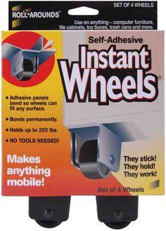 4/Pkg Self-Adhesive Instant Wheels  17234