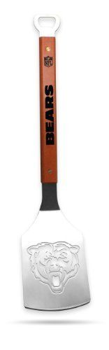 Sportula Products Chicago Bears Stainless Steel Grilling Spatula by SPORTULA PRODUCTS. Save 2 Off!. $24.44. Unique laser-cut design. Custom heat-stampled lettering. Heavy-duty Stainless Steel. Convenient bottle opener. Hard maple handles with durable brass rivets. The Sportula is a heavy duty stainless steel grilling spatula that is perfectly designed for the Ultimate Tailgater.