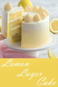 Layer Cake Looking for an easy cake to bake for Mother's Day? Try this easy lemon cake with a yellow ombre buttercream frosting.Looking for an easy cake to bake for Mother's Day? Try this easy lemon cake with a yellow ombre buttercream frosting.