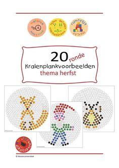 Ik maakte 20 voorbeelden voor de ronde kralenplank, met als thema herfst. Heb jij ronde kralenplanken in de klas, dan is dit een aanrader. Ronde kralenplanken zijn uitdagender dan vierkante! - JufBianca