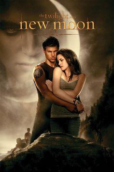 """Póster de New Moon """"Luna Nueva"""" (Movie 2009 crepúsculo #2) basada en los olibros de Stephanie Mey"""