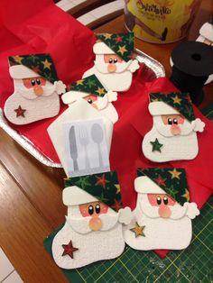 Decoração de Natal - porta talher