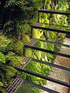 Glass Stairs, Nantes (Loire-Atlantique, Pays-de-la-Loire, FRANCE)