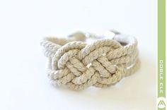 Sailor Knot Bracelet  Natural by DobleEle on Etsy, $15.00