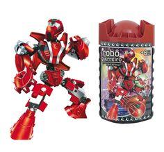 0697.6 - Blocos de Encaixe Robô Guerreiro RED ARMOR | Contém 59 peças. | Faixa Etária: +6 anos | Medidas: 10,5 x 9 x 20 cm | Jogos e Brinquedos | Xalingo Brinquedos | Crianças