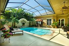 Courtyard patio pool design in Vero Beach, Florida